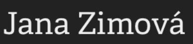 jana-zimova.com