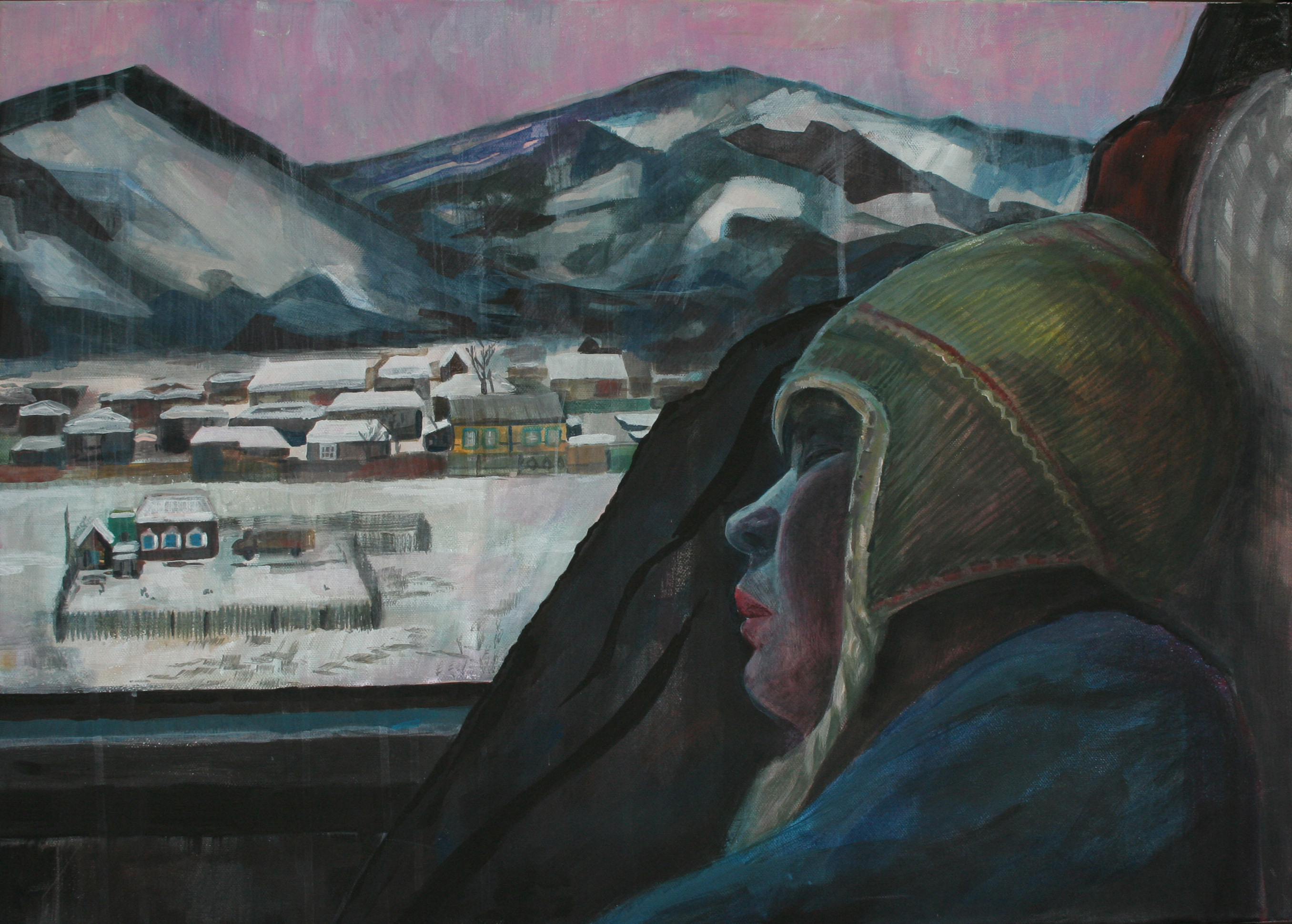 In the train, 80x60 cm, 2011
