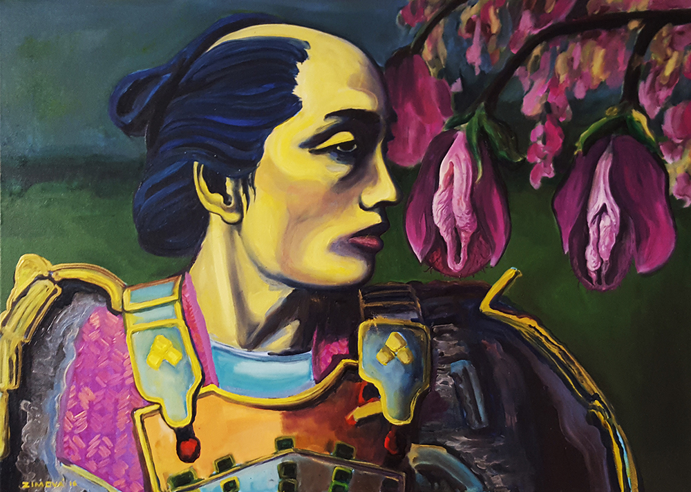 Flowers of the warrior, 60 x 80 cm, oil on canvas, 2016